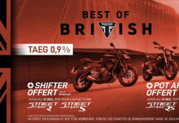 Shifter ou pot Arrow offert Street Triple RS